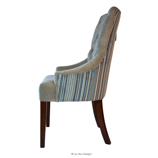 chevron dining chair side